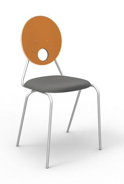 Kaleido tanári szék, kör támlás - dekorit háttámla